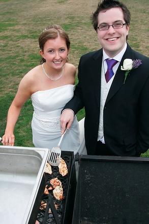 Mariage sur le thême du barbecue