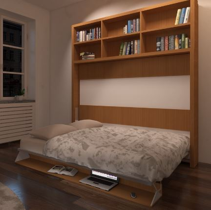 lit qui se rabat pour chambre ou studio étudiant