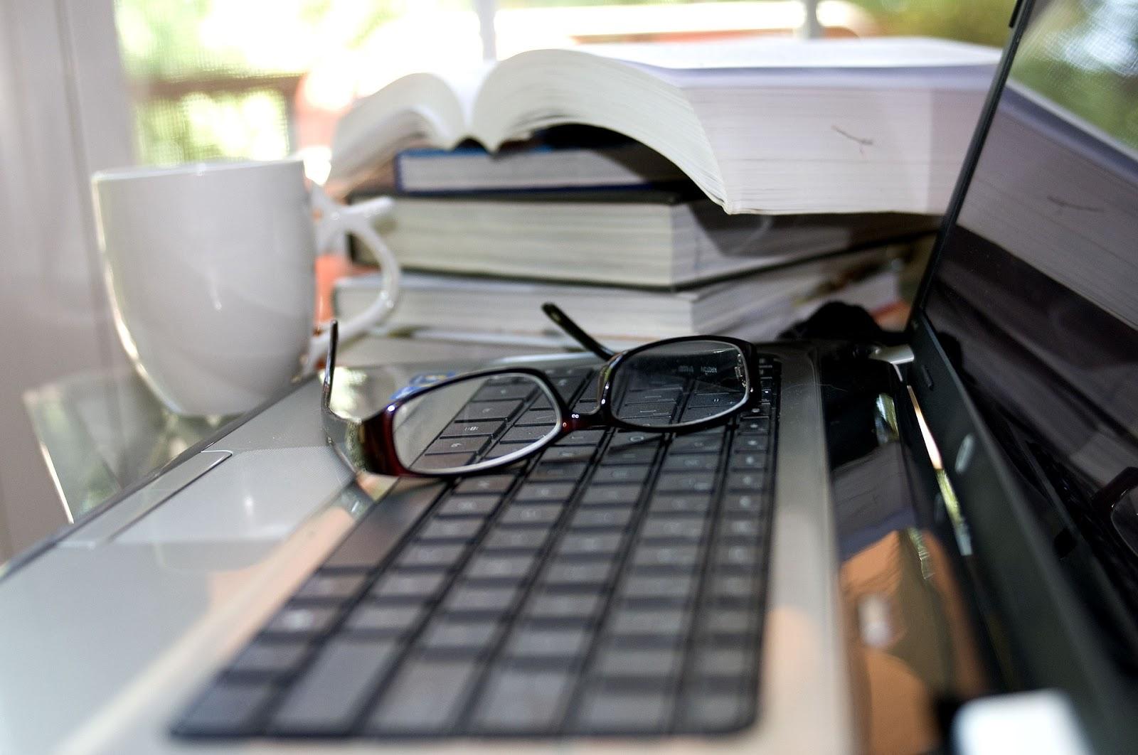 Le bureau d'un rédacteur web