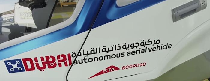 Drone-taxi en test à Dubaï