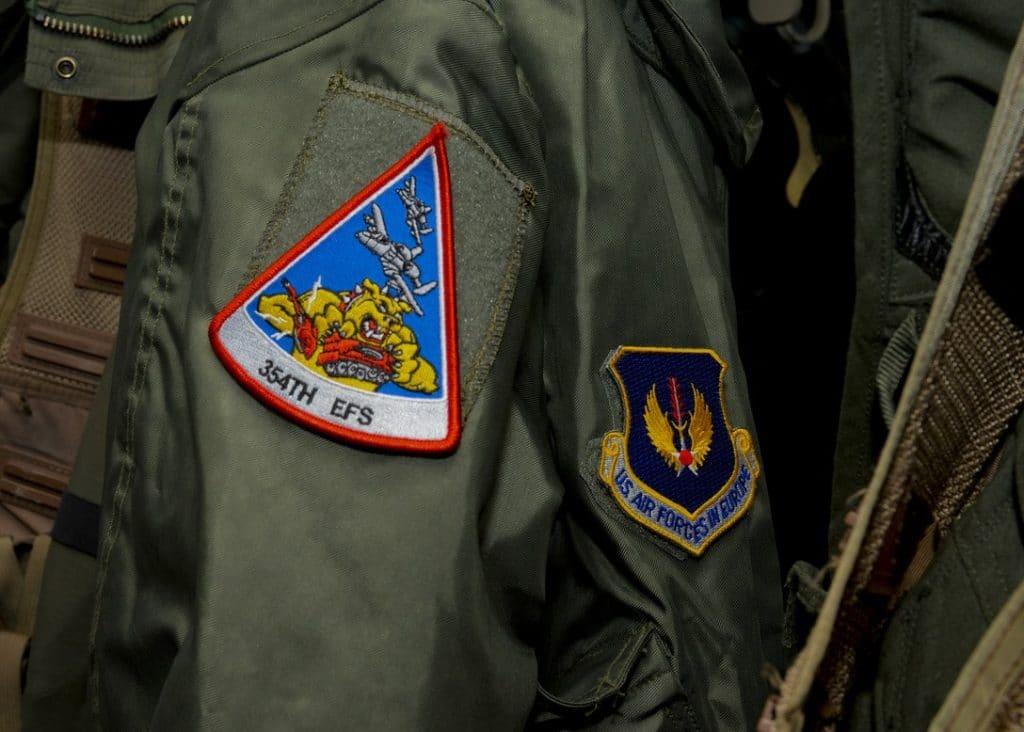 Une veste d'aviateur de l'armée américaine