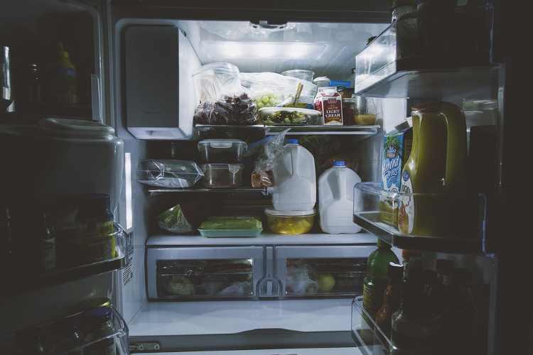 Intérieur du frigo américain