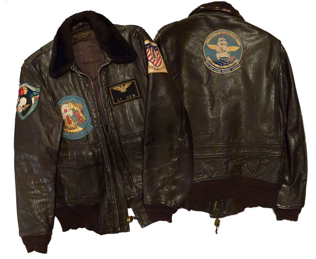 une veste d'aviateur de l'US navy