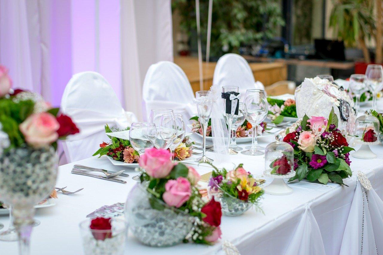 Table de réception de mariage